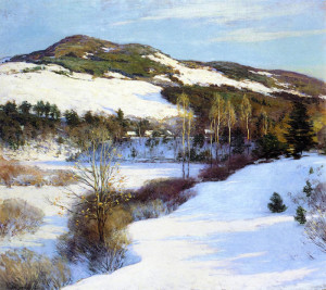"Willard Leroy Metcalf (1858-1925) - ""Cornish Hills"" - 40"" x 60"" - Oil  (1911)"