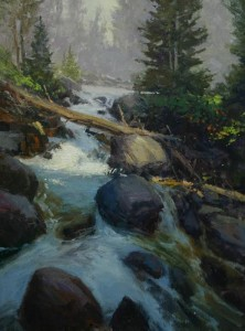 "Rusty Jones - ""Runoff"" - 24"" x 18"" - Oil"