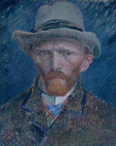 "Vincent van Gogh (1853-1890) - ""Self Portrait"" - 16.54"" x 13.39"" - Oil  (1887)"