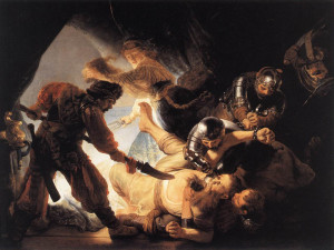 "Rembrandt van Rhyn (1606-1669) - ""The Blinding of Samson"" - 92.91"" x 118.9"" - Oil  (1636)"
