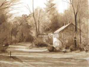 """The Morning Paper"" - 30"" x 40"" - Oil...Monochromatic Block-in using Raw Umber..."