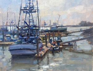 """Fishing Boats"" - 11"" x 14"" - Oil"