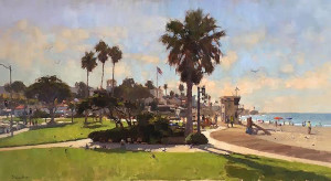 """Main Beach, Laguna"" - 24"" x 40"" - Oil   (Best in Show - 2016 - 18th Annual Laguna Beach Plein Air Invitational, Laguna Beach, CA"