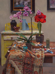 """Studio Still Life"" - 40"" x 30"" - Oil"