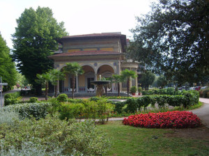Partial view of the Montecatini Spa grounds