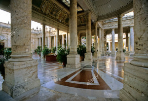 "Interior of Montecatini""s exquisitely beautiful spa."