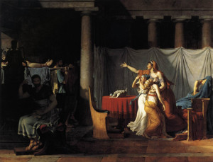 "Jacques Louis David (1748-1825) - ""The Lictors Returning to Brutus the Bodies of His Sons"" - 127"" x 166"" - Oil (1789)"