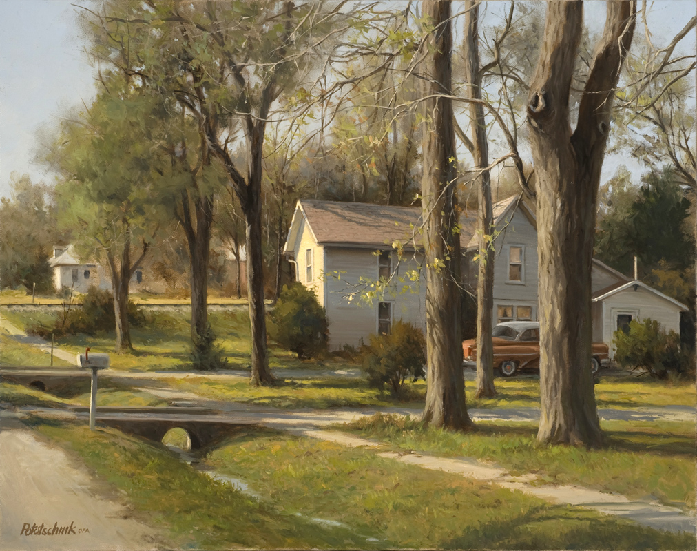 """At the Edge of Town"" - 24"" x 30"" - Oil  (Finalist)"