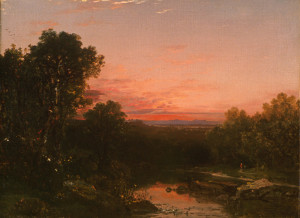 """Sunset Over the Catskills"" - Oil (1855)"