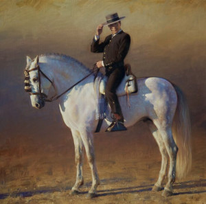 """The Andalusian Horseman"" - 36"" x 36"" - Oil"
