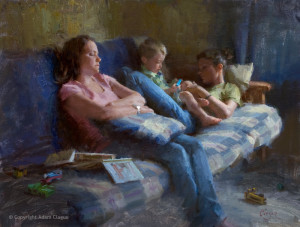 "Adam Clague - ""Babysitters"" - 18"" x 24"" - Oil"