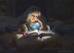 "Adam Clague - ""Book Club"" - 32"" x 23"" - Oil"
