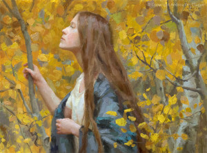 "Andrea Clague - ""In Gratitude"" - 9"" x 12"" - Oil"