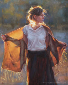 "Andrea Clague - ""Morning Has Broken"" - 30"" x 24"" - Oil"