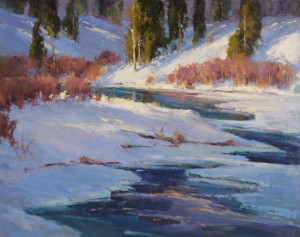 "Ann Larsen - ""High Country Melt"" - 24"" x 30"" - Oil"