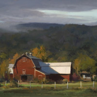 "BEST LANDSCAPE ""Vermont Barn"" - 12"" x 16"" - Oil"