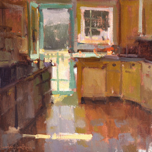 "Anne Blair Brown - ""Cottage Kitchen"" - 16"" x 16"" - Oil"