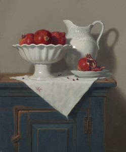"Annie Kraft Walker - ""White on White"" - 24"" x 20"" - Oil"