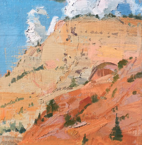 "Louis Escobedo - ""Zion"" - 8"" x 8"" - Oil"