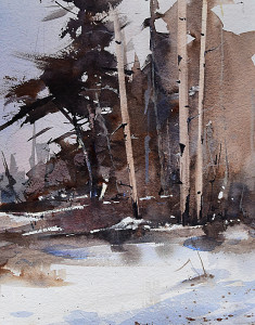 "Beverly Boren - ""Winter's Blanket"" - 11"" x 14"" - Watercolor"