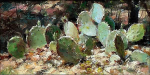 """Ted Clemens - """"Edge of the Woods"""" - 8"""" x 16"""" - Oil"""