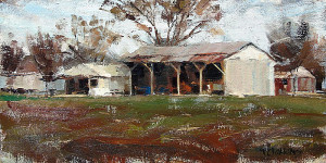 "Ted Clemens - ""Wylie Barn"" - 8"" x 16"" - Oil"