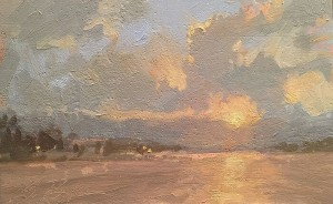 """Canyon Lake Sunset"" - 4"" x 6"" - Oil"