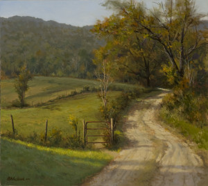 """Rural Hideaway"" - 25"" x 28"" - Oil  (Honorable Mention)"