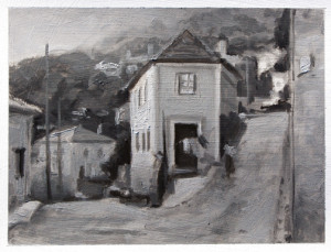 """""""Sintra"""" - 4.5""""  6"""" - Oil on paper"""
