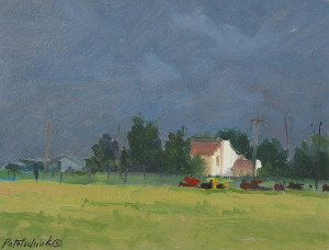 """""""Summer Storms"""" - 4.5"""" x 6"""" - Oil"""