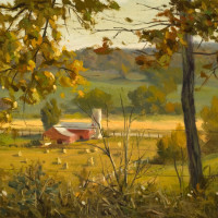 """Changing Seasons"" - 8,38"" x 13.38"" - Oil"