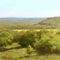 Hill Country Vista - 8 x 8 - Oil