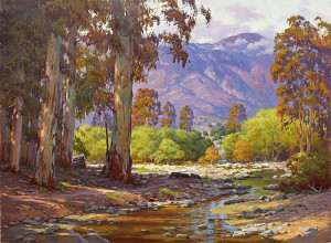 """Aliso Creek Path"" - 28"" x 64"" - Oil"