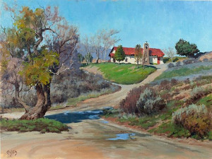 """""""The Old Church on the Hill"""" - 18"""" x 24"""" - Oil"""