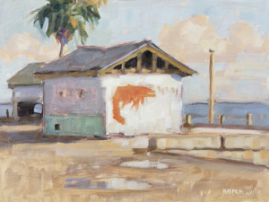 """Bait Shop"" - 9"" x 12"" - Oil"