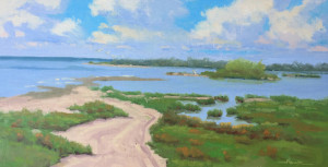 """Copano Bay"" - 10"" x 20"" - Oil"