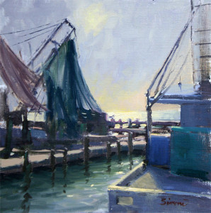 """Fulton Harbor Morning"" - 16"" x 16"" - Oil"