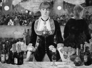 "Eduard Manet - ""A Bar at the Folies Bergere"" - 37.75"" x 51.25"" - Oil  (1882)"