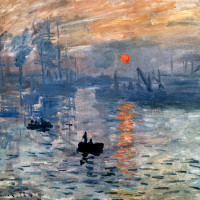 "Claude Monet  -  ""Impression, Sunrise""  -  18.9""x 24.8""  -  Oil  -  1872"