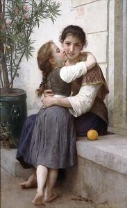 "William Adolphe Bouguereau - Calinerie - 57.09""x 35.83"" - Oil - 1890"