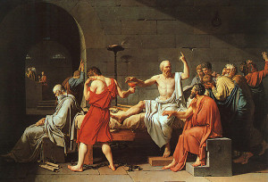 "Jacques-Louis David - The Death of Socrates -  51""x 77.25"" - Oil - 1787"