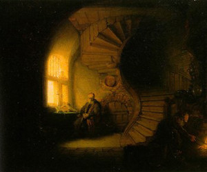 Greys and white on black Rembrandt  (1606-1669)