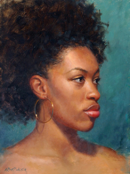 """Jessica"" - 13"" x 10"" - Oil  (Honorable Mention, Oil Painters of America Summer Online Showcase)"