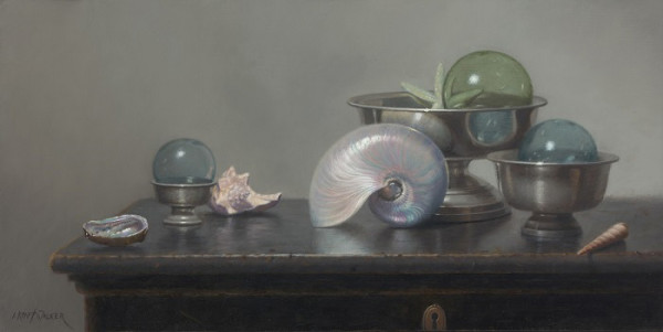 """Of Sand and Sea"" - 12"" x 25"" - Oil  (Finalist 2017, Portrait Society of America Members Only Competition; Award of Excellence, Oil Painters of America National Exhibition)"