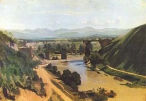 """The Bridge of Narni (Field Study)"" - 13""x 18"" - Oil"