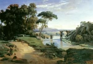"""The Bridge of Narni"" - (1827 Paris Salon) - 26""x 37"""