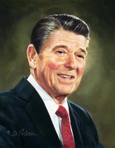 da-Reagan Oil Portrait