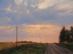 """Chisago County Dusk"" - 18""x 24"" - Oil"