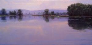 """River Silence"" - 18"" x 36"" - Oil"
