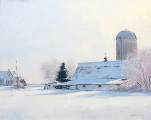 """Sunday Morning Frost"" - 16""x 20"" - Oil (John Marion Pardy Landscape Award of Excellence - 2010 OPA National)"